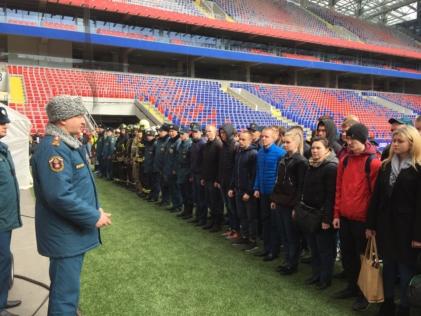 Пожарная безопасность. Учения на стадионе ЦСКА. Пожарно-технический минимум